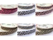 Ribbon Leopard Print  Grosgrain Ribbon Widths 9mm & 16mm