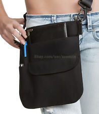 Quality Black Money Pouch apron w/ Adjustable Shoulder Sling