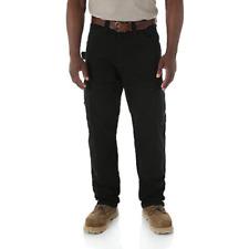 WRANGLER Riggs Workwear Ripstop Ranger Black Cargo Pants Men's 38x32  3WO60BL