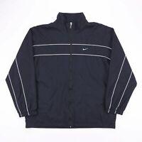 Vintage NIKE Black Logo Zip Up Sports Track Jacket Size Mens XL