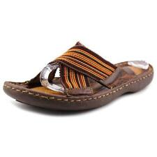 Low (3/4 in. to 1 1/2 in.) Medium (B, M) Striped Sandals & Flip Flops for Women