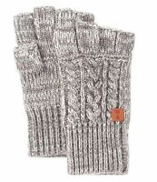 NWT FRYE Men's Marled Cable GRAY Fingerless Gloves MSPR $48 - ONE SIZE FITS MOST