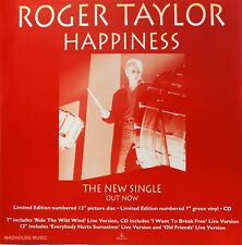 QUEEN ROGER TAYLOR Happiness Poster UK PROMO ONLY In-Store Display Card Flat NEW