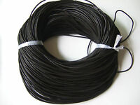 3/5M x 100% Real Distressed Matte Black 2mm Round Leather Cord String Lace Thong