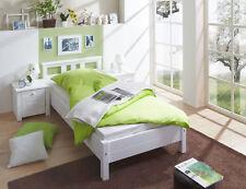 Einzelbett Merci Massivholz Kiefer Weiss 90 x 200 cm