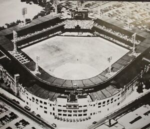 COMISKY PARK CLEVELAND INDIANS 1910 OPENING DAY CLASSIC OVERHEAD VIEW