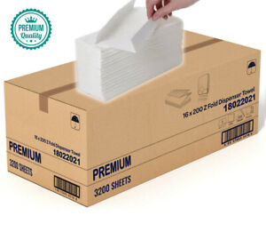 3200 Paper Hand Towels Z fold tissues Multi Fold Premium Quality PACK 2 PLY