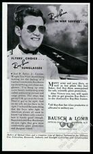 1944 Ray Ban pilot's sunglasses sun glasses test pilot photo vintage print ad