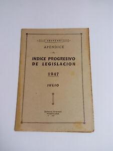 Aranzadi Appendix to The Index Progressive Of Legislation 1947 - July