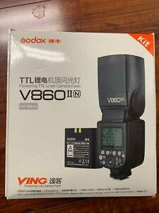 V860II-N i-TTL II Wireless HSS 2.4G Li-ion Flash Speedlite for Nikon