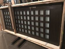 "Wood Grain Slab Single Door With 72 Windows 48""W X 120"" Brushed Nickel Hardware"