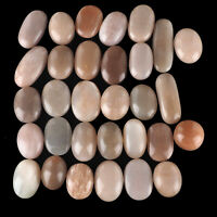 Natural Peach Moonstone 25mm-48mm 31 Pcs Top Quality Loose Cabochon Gemstones