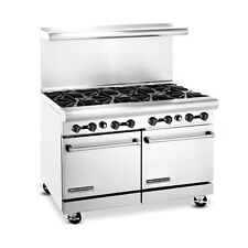 American Range Ar-8, Heavy Duty Gas 48 inch, 8 burners Restaurant Range