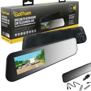 Specchietto retrovisore Videocamera In Dash Gotham grandangolo 170° DVR. Full HD