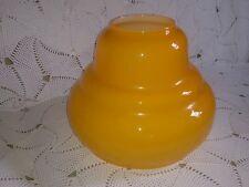 Globe opaline boule lustre ancien art deco orange haut : 21,5 cm largeur  26 cm