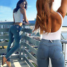18 Sexy Tight Hip Women Push Up Pencil Pants Denim Freddy Jeans Elastic Trousers