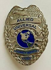 Allied Universal Security Services Silver-tone Badge - FREE U.S. SHIPPING!!!