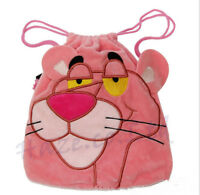 Pink Panther Plush Drawstring Bag - Cosmetic & camera pouch Kids Gift