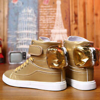 Plus Size Mens Unisex Gold High Top Sneakers Outdoor Athletic Running men Shoes