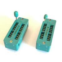 US Stock 2x 18 Pin 2.54mm ZIF ZIP IC Test DIP Board Socket Universal 218-3345