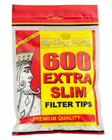 1200 (2 x 600) ROLLING KING EXTRA SLIM Cigarette Filter Tips Resealable Bag