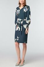 Next Grey Floral Work Tea Evening Trench Shirt Style Dress 10 UK RRP £45