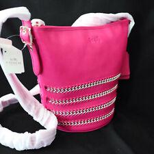 NWT COACH Mini Duffle Chain Braided Leather Pink Crossbody Shoulder Bag NEW $475