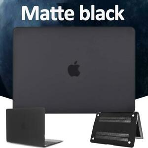 Black Matte Shell Case Cover For Apple MacBook Air 11'' 13''/Pro 13/15/16/12''