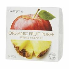 Clearspring organici puree di frutta mela & ANANAS 2 x 100g