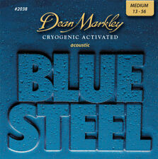 Dean Markley 2038 Blue Steel Acoustic Strings Med 13-56