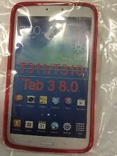 Samsung Galaxy Tab 3 8.0 TPU Case Cover Red TPU6516-109 Brand New Original pack.