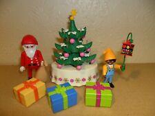 PLAYMOBIL CHRISTMAS TREE With Lights (dolls house,Elf,toys,Xmas,Cake decoration)