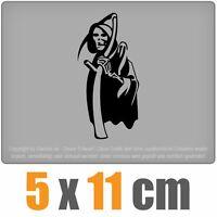 Sensenmann 5 x 11 cm JDM Decal Sticker Aufkleber Racing Scheibe Auto Carchwarz