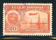 VENEZUELA Used Selections: Scott #C113 20B Red Orange Air Post CV$25+