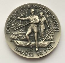 FOUNDING OF BOONESBOROUGH DANIEL BOONE LONGINES SYMPHONETTE .999 SILVER MEDAL