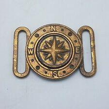 Antique 2-Piece Clip-In Nautical Compass Belt Buckle **Rare and Unique!**