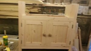 900mm belfast sink unit  solid wood
