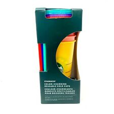 Starbucks 2020 Summer Rainbow Color Changing Venti Cold Cup Tumbler 24oz 5 Count