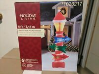 Gemmy Holiday Living Christmas 8 ft North Pole Sign Airblown Inflatable NIB rare