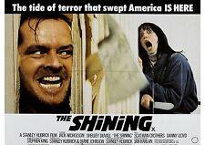 The Shining - Jack Nicholson - Stanley Kubrick - A4 Laminated Mini Movie Poster