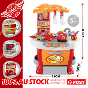 Kitchen Educational Pretend Role Play Set Cooking Selling shopping Oven Toy AU