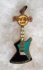 HARD ROCK CAFE CAYMAN ISLANDS STANDING BLACK & TEAL ARIA GUITAR PIN # 39312