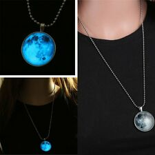 Starry Sky Steampunk Glow In The Dark Pendant Necklace Stainless Steel Chain New