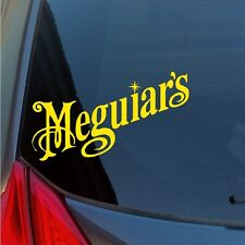 Two Meguiar's vinyl stickers decals wax detailing polish kit tire car care show