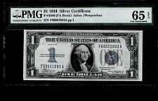 1934 $1 Dollar Silver Certificate-Blue Series Uncirculated PMG 65