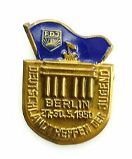 #e5311 DDR DISTINTIVO FDJ Berlin 27.-30.5.1950 Germania incontro dei giovani