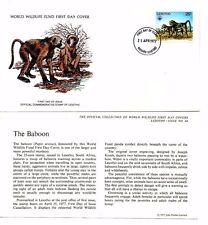 World Wildlife Fund PRIMO GIORNO DI COPERTURA 1977-Lesotho-il Babbuino