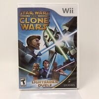 Star Wars: The Clone Wars  Lightsaber Duels (Nintendo Wii, 2008) Complete Tested