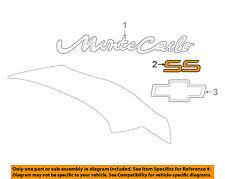 "2000-2005 MONTE CARLO IMPALA RED ""SS"" TRUNK EMBLEM NEW GM #  10402626"