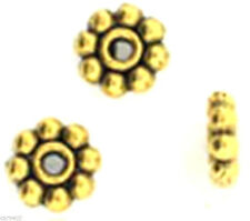 5mm Goldplated Antiqued Pewter Daisy Spacers (100)
